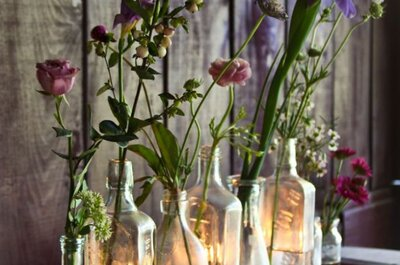 El vidrio, tu aliado indiscutible para una decoración de boda muy original