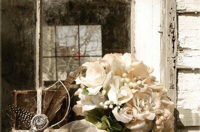 Fotos originales al ramo de novia