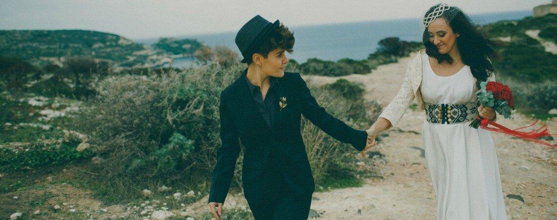 """""""Almeno noi nell'universo"""": il matrimonio di Martina e Valeria"""