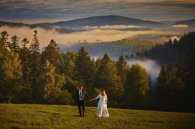 Sesja ślubna w Bieszczadach z praniem sukni w Sanie! Nie możesz tego przegapić!