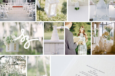 White Love: Inspiración mágica para decorar tu boda con la magia absoluta del color blanco