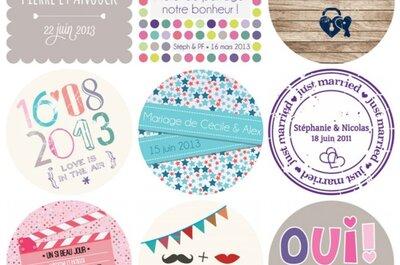 [Concours] Les Petits Cadeaux : des stickers personnalisés pour votre mariage