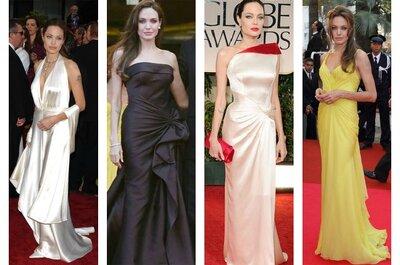 Inspírate en el estilo de Angelina Jolie y elige un vestido de novia corte sirena