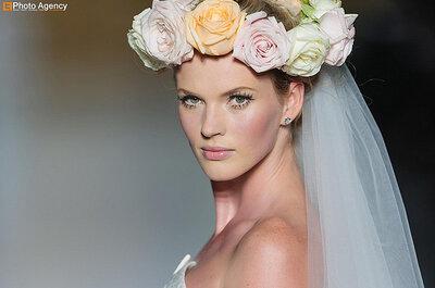 Tendencias 2014: Tiaras, tocados, velos y coronas de flores naturales