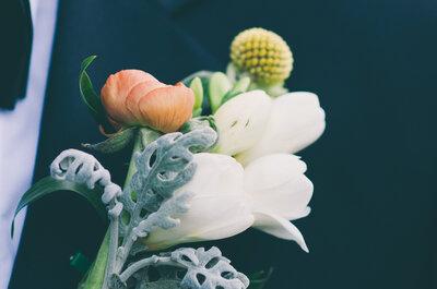 Flores para o noivo: o pormenor perfeito para o look dele!