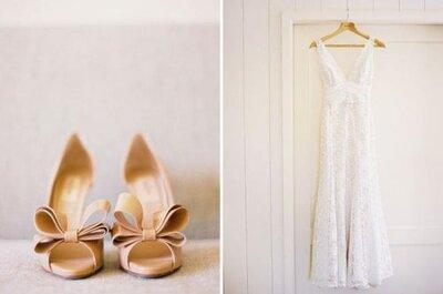 Bruidsschoenen trend 2014: Zachte en metallic tinten