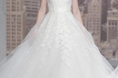 Bordados, pedrería y espaldas sensacionales en los vestidos de Rosa Clará 2015