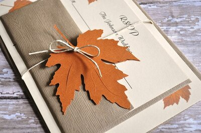 Autumnal wedding stationery ideas