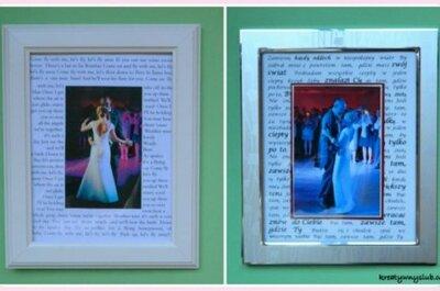 Ramka ze zdjęciem z pierwszego tańca jako prezent ślubny - DIY