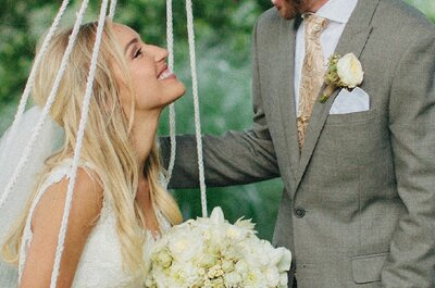 ¡Atrévete a llevar tu cabello suelto en tu boda!
