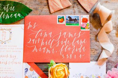 Naranja encendido, un color increíble para decorar tu boda