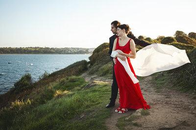 Aurélia + Aurélien : Une jolie déco DIY et une mariée en rouge!