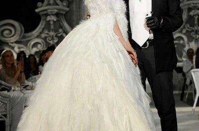 Vestidos de novia 2012 para una boda en invierno