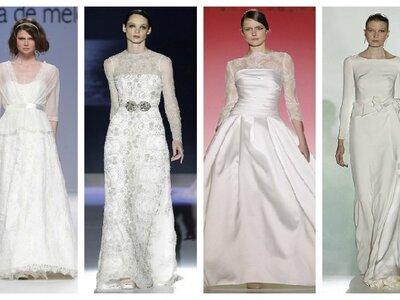 Brautkleider mit langen Ärmeln - die schönsten Modelle 2013