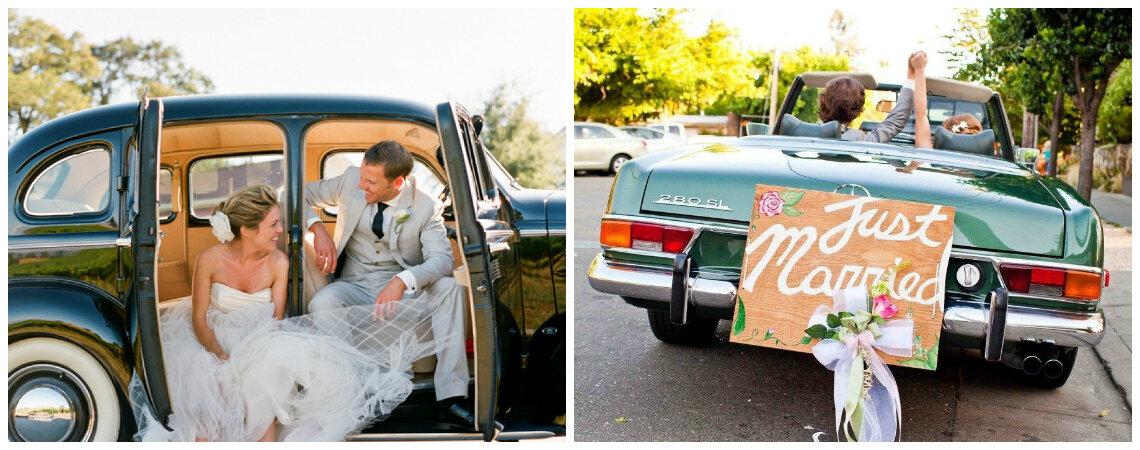 Ideas DIY para decorar el carro de los novios