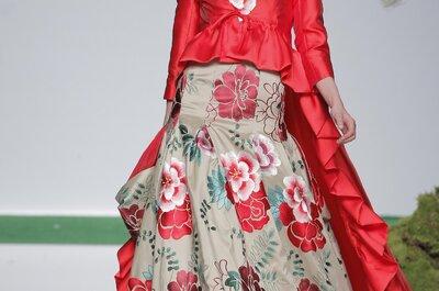 Os vibrantes vestidos de noiva e de festa de Carla Ruiz 2014