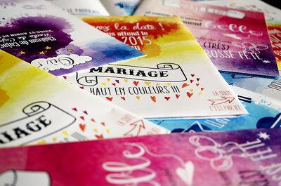 Pour un mariage qui vous ressemble, craquez pour les faire-part sur mesure de La Cerise sur le Gâteau