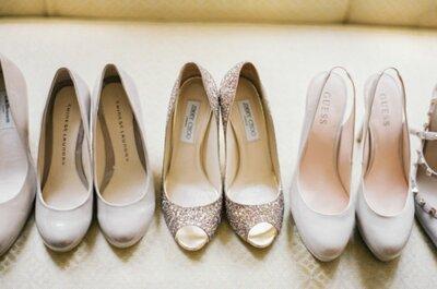 Seleção de sapatos de noiva: peças inspiradoras para todos os estilos