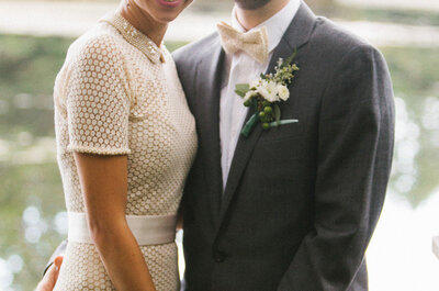 Apuesta por el color en tu vestido de novia, ¡olvídate del blanco!