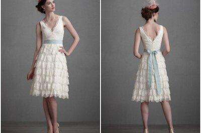 Hoje o meu vestido de noiva preferido é... curto, rendado e amoroso!