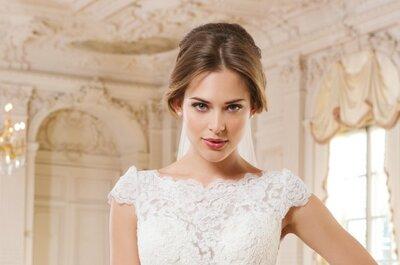 Vestidos de noiva Lillian West 2015: modelos luxuosos e exuberantes