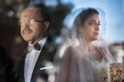 15 razões pelas quais qualquer noiva precisa do seu pai para toda a vida!