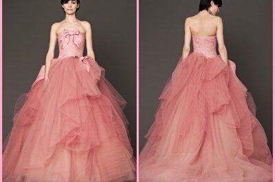 """Collezioni Sposa 2015: 50 sfumature di… rosa, per Vera Wang con """"Think Pink"""""""
