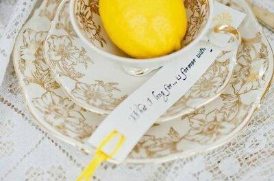 Hochzeitsdeko einmal anders - Kombination aus Gelb und Blau