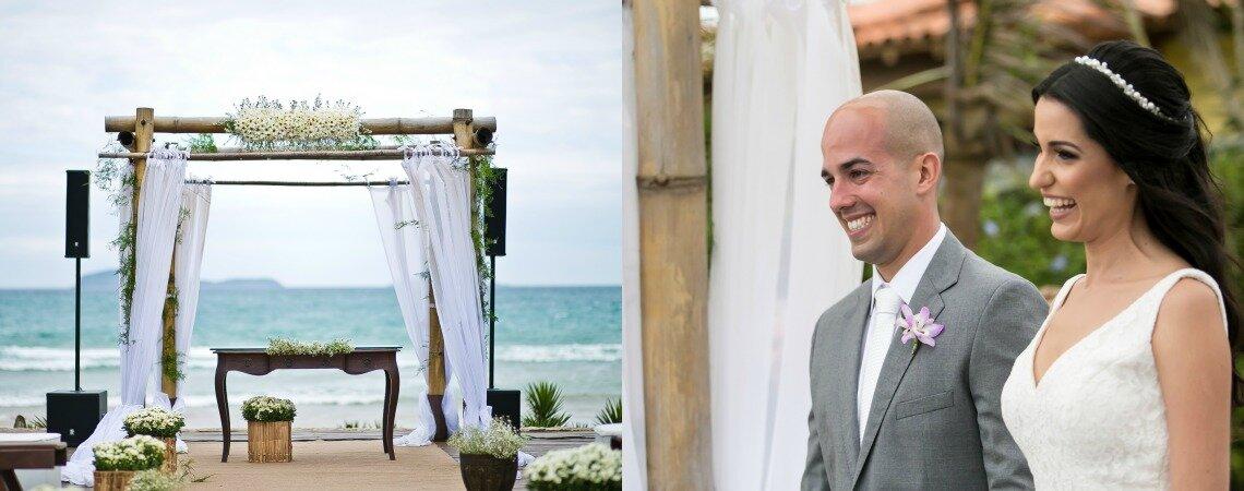 Michele & Antonio Vitor: casamento LINDO à beira mar depois de anos de namoro às escondidas!