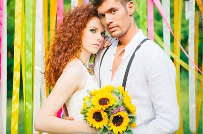 Peace and Love: Eine Real Wedding im Hippie Style