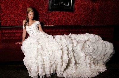 Cabello y maquillaje expresivo de una novia en Las Vegas