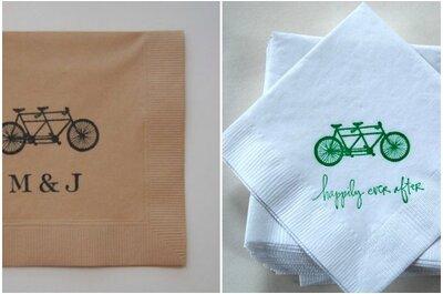 Una preciosa boda en bicicleta