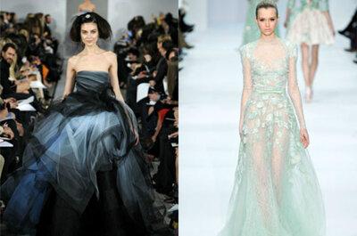 Vestidos de noiva coloridos: tendência 2013
