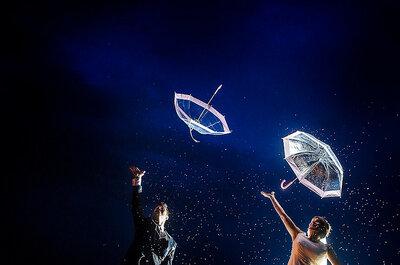La foto de la semana: una boda con lluvia