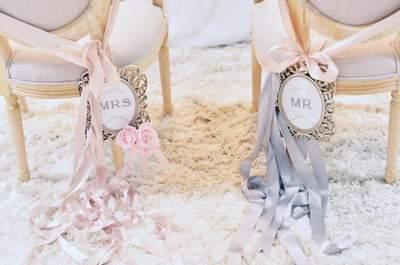 Anote estas ideias de decoracão de cadeiras para casamentos 2016