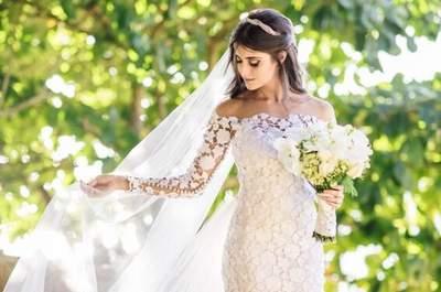 Vestidos de noiva com corte reto 2017: elegância absoluta!