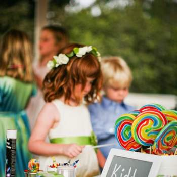Fun kids tables for a child friendly wedding