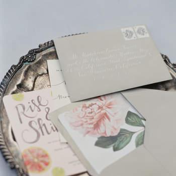 Invitaciones de boda 2016 con detalles en color gris: Las ideas más sofisticadas