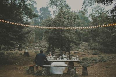 Boda de inspiración rústica: la decoración más chic en un bosque tinerfeño