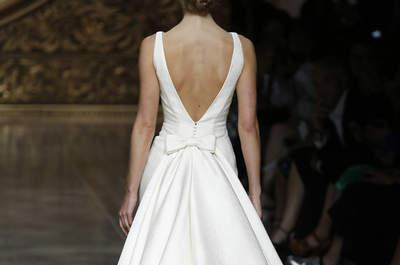 Espalda al aire en vestidos de novia para este 2016: luce elegante y sofisticada