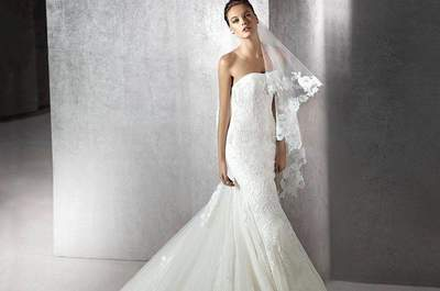 Vestidos de novia palabra de honor 2017. ¡Un clásico que nunca pasa de moda!