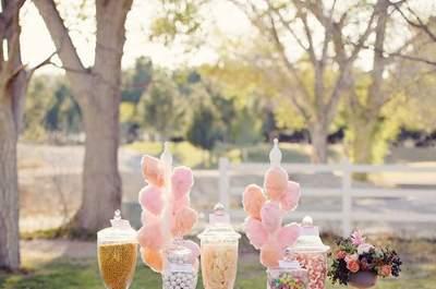 Candy bar en tu catering: la mejor forma de endulzar tu matrimonio