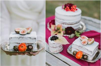 Naked wedding cakes: Rustic & delicious!