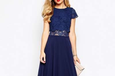 Vestidos azules cortos para fiesta 2017: el color de la elegancia