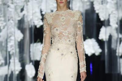 La personalidad y el estilo único de los vestidos de novia YolanCris 2016: descubre su desfile