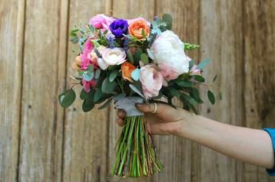 52 ramos de novia 2017: llegó la hora de imponer color con los estilos más hermosos