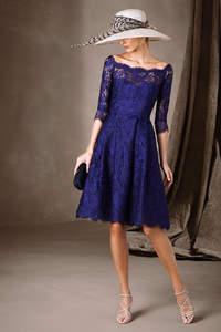 Niebieskie sukienki na wesele 2017