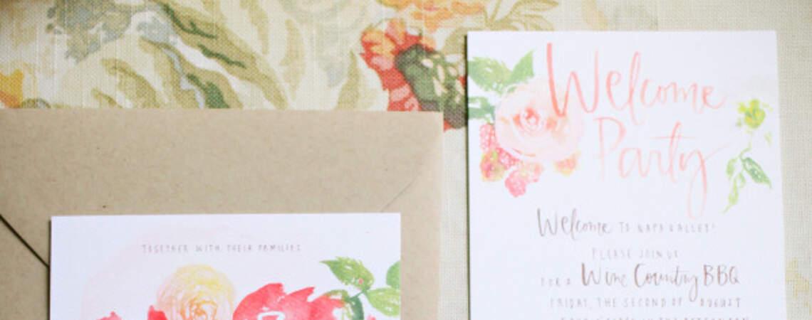 Invitaciones de boda con ilustraciones de flores: La tendencia más femenina del 2016