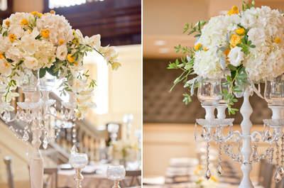 Arreglos de mesa para boda con flores
