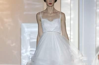 Un toque etéreo y singular en los vestidos de novia primavera 2015 de Miquel Suay